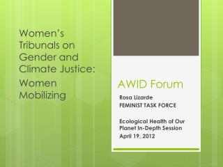 AWID Forum