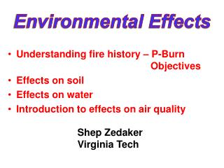 Environmental Effects
