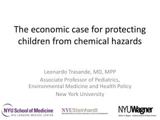 The economic case for protecting children from chemical hazards