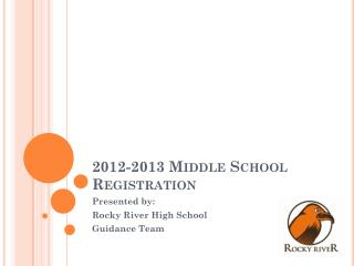2012-2013 Middle School Registration