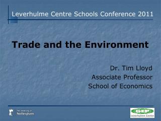 Leverhulme  Centre Schools Conference 2011