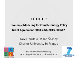 ECOCEP Economic  Modeling for Climate-Energy Policy