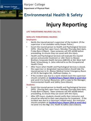 Injury Reporting