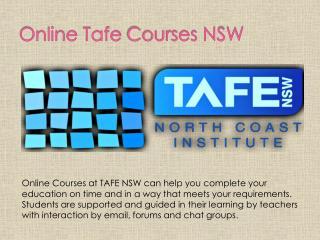 Online Tafe Courses NSW