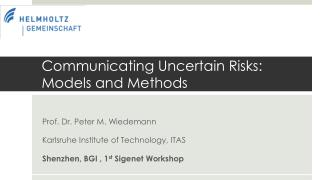 Communicating Uncertain Risks: Models and Methods