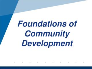 Foundations of Community Development