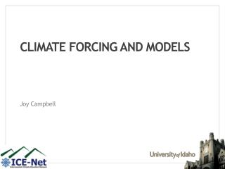 Climate Forcing and Models