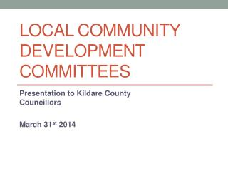 Local Community Development Committees