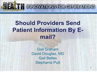 should providers send patient information by e-mail