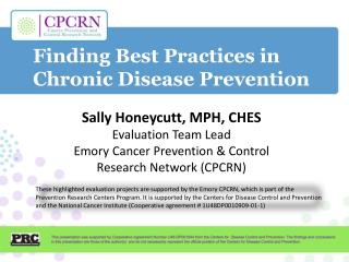 Finding Best Practices in  Chronic Disease Prevention