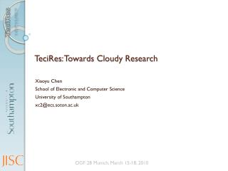 TeciRes : Towards Cloudy Research