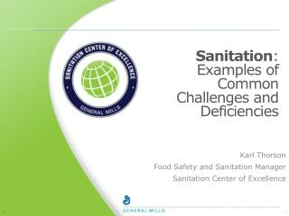 Sanitation : Examples of Common Challenges and Deficiencies