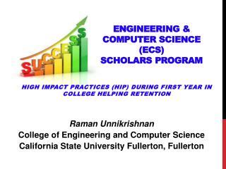 Engineering & Computer Science (ECS) Scholars Program