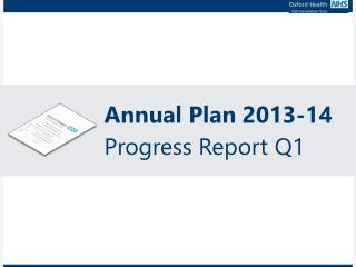 Annual Plan 2013-14 Progress Report Q1