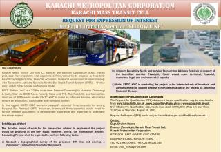 Karachi metropolitan corporation  Karachi mass transit cell