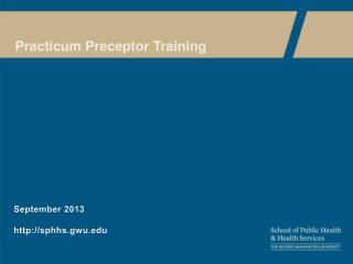 Practicum Preceptor Training