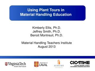 Using Plant Tours in  Material Handling Education