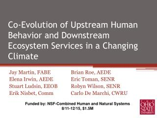 Co-Evolution of Upstream Human Behavior and Downstream Ecosystem Services in a Changing Climate