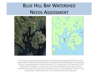 Blue Hill Bay Watershed Needs Assessment