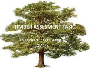 TIMBER ASSESMENT TASK