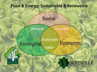 Food & Energy: Sustainable & Renewable