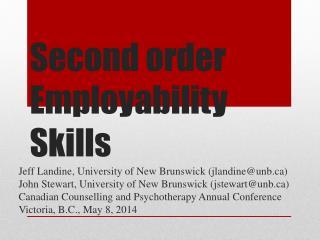 Second order  Employability Skills