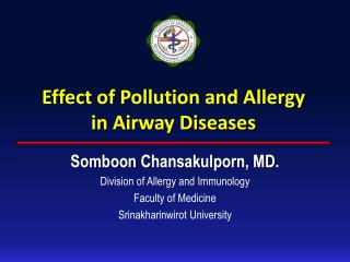 Effect of Pollution and Allergy  in Airway Diseases