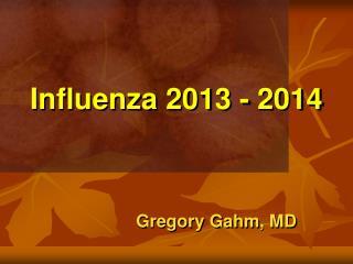 Influenza 2013 - 2014