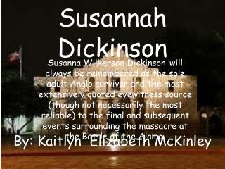 Susannah Dickinson