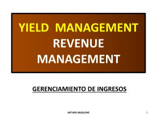 YIELD  MANAGEMENT REVENUE MANAGEMENT