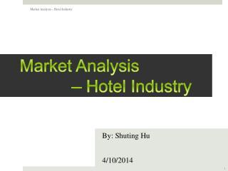 Market Analysis            – Hotel Industry