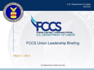 FCCS Union Leadership Briefing