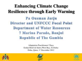 Enhancing Climate Change Resilience through Early Warning