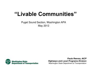 """""""Livable Communities"""""""