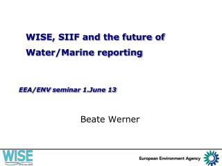 EEA/ENV  seminar  1.June 13