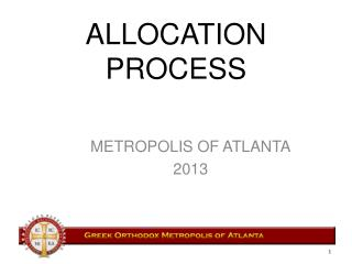 ALLOCATION  PROCESS
