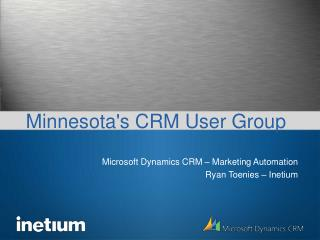 April 2008 - CRM User Group Presentation