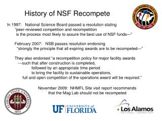 History of NSF Recompete