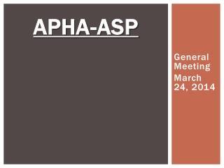 APhA -ASP