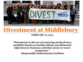 Divestment  at Middlebury