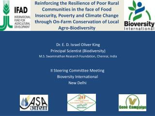 II Steering Committee Meeting  Bioversity International New Delhi
