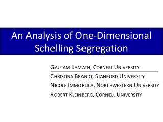 An Analysis of One-Dimensional Schelling Segregation