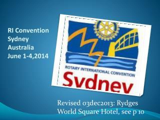 RI Convention Sydney  Australia June  1-4,2014