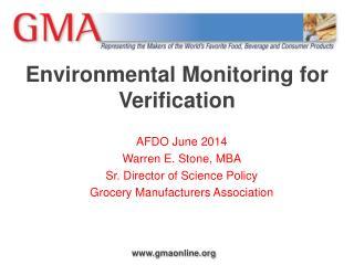 Environmental Monitoring for Verification