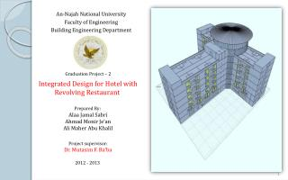 An-Najah National University  Faculty of Engineering  Building Engineering Department