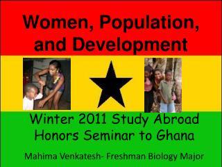 Women, Population, and Development