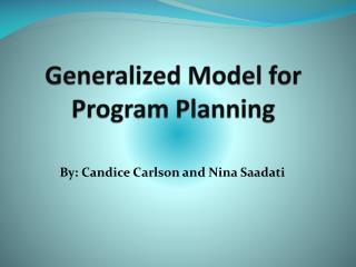 Generalized Model for Program Planning