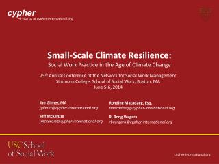 Small-Scale Climate Resilience: Social Work Practice in the Age of Climate Change