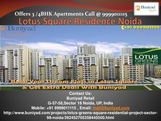 Lotus Square Residence Noida Sector 98 – Identity to luxury