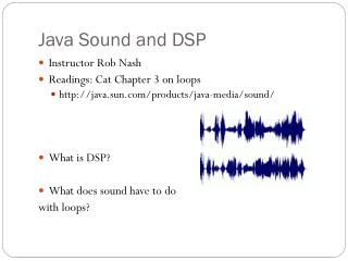 Java Sound and DSP